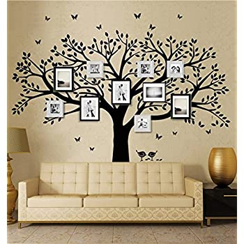 Family Tree Wall Decal Butterflies And Birds Wall Decal Vinyl Wall Art  Photo Frame Tree Stickers Part 13