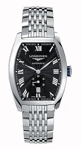 Longines Evidenza L2.729.4.51.6 - Reloj analógico automático para Hombre, Correa de Acero Inoxidable Color Plateado: Amazon.es: Relojes