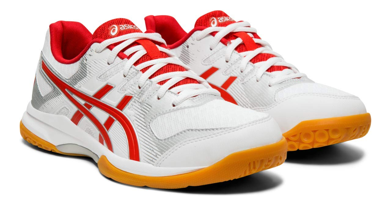ASICS Gel-Rocket 9 Women's Volleyball Shoes, White/Classic Red, 5 M US