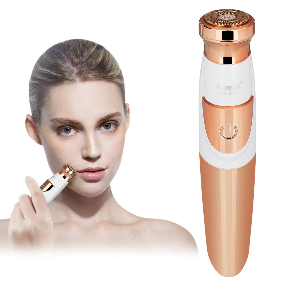 Hair Remover for Women, YaFex Facial Hair Removal - Hypoallergenic Blade, No Pain, Rose Gold