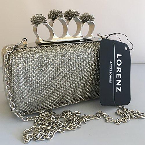 prezzi 2019 professionista fashion design Da donna in rete metallica sera pochette con anelli Nocca e ...