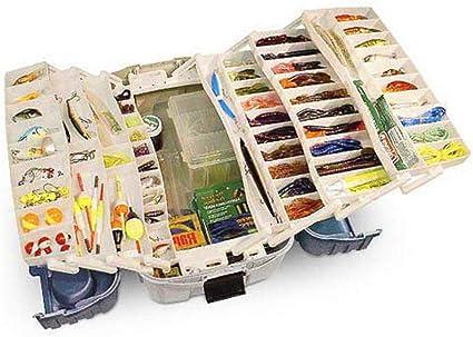 Large Fishing Tackle Box With 7 Tray Full Travel Holder Pack Handle-Locking Boxs