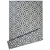 DII Contemporary Indoor/Outdoor Lightweight Reversible Fade Resistant Area Rug, Great For Patio, Deck, Backyard, Picnic, Beach, Camping, BBQ, 4 x 6', Gray Infinity Circle