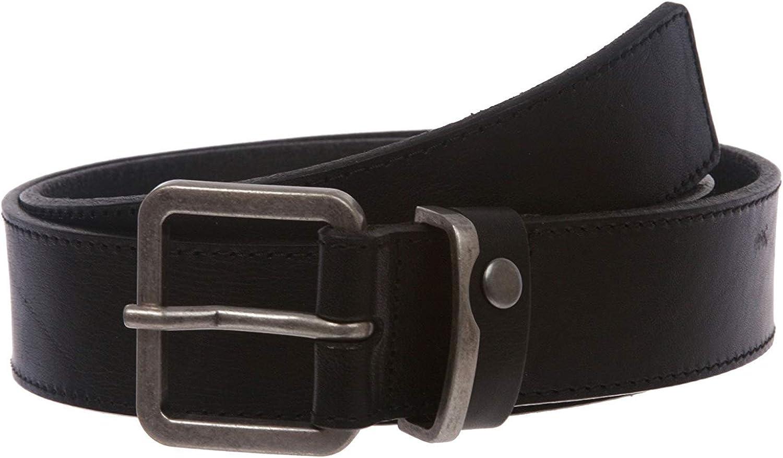 MONIQUE Men Quality Italian Leather Casual Jean Square Metal Buckle 1.5 Belt