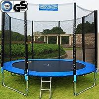Trampolin Kindertrampolin Garten Set 305cm + Netz Leiter Plane Zubehör TÜV/GS