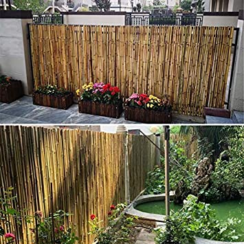 Pantalla De Privacidad Cerca De Bambú Natural Cerca De La Terraza Pantalla del Patio Cortina De Bambú Cortar Jardín Al Aire Libre Barandilla Conexión por Medio De Cables, Barandilla De Niños: Amazon.es: