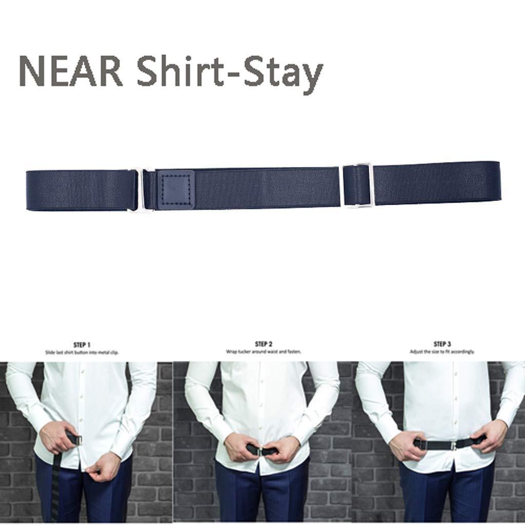 Taille: 2.50cmx120cm//1inch x 47.2inch r/églable TIREOW T-shirt Bandage Anti-rides ceinture,Ajustable Pr/ès de Shirt-Stay Best Chemises S/éjours Chemise nylon Tuck It Belt Mens Shirt Stays