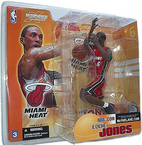 McFarlane Toys NBA Sports Picks Series 3 Action Figure Eddie Jones (Miami Heat) (Mcfarlane Sports Toys Picks Nba)