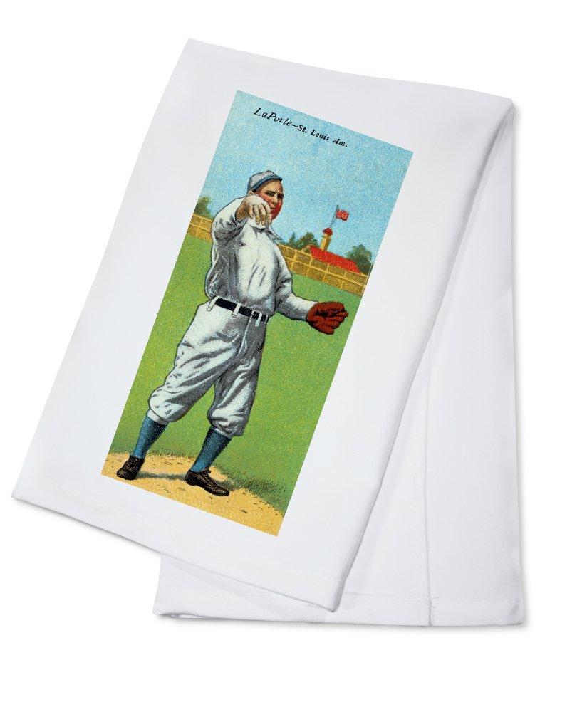 セントルイスBrowns – フランクB。Laporte – 野球カード Cotton Towel LANT-23150-TL Cotton Towel  B0184BBSIY