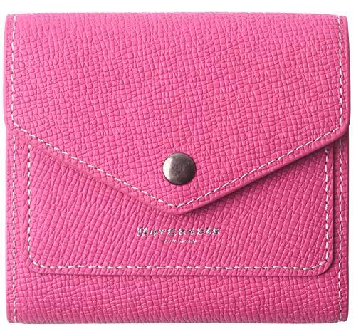 Borgasets Women's RFID Blocking Small Compact Bifold Leather Pocket Wallet Ladies Mini Purse (Crosshatch Rose)