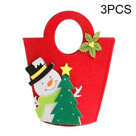 Navidad manzanas bolsa bolsas de regalo de Papá Noel Candy ...