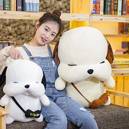 Lovely Embroidery Cuddly Ins Cartoon Cute Puppy Dog Stuffed Animals 3D Plush Lumbar Soft Hugging Figure Bolster Bed Cushion Nursery Home Office Decor Baby Play Toy Sleeping Throw Pillow Gift White by ORGEN HOME (Image #4)