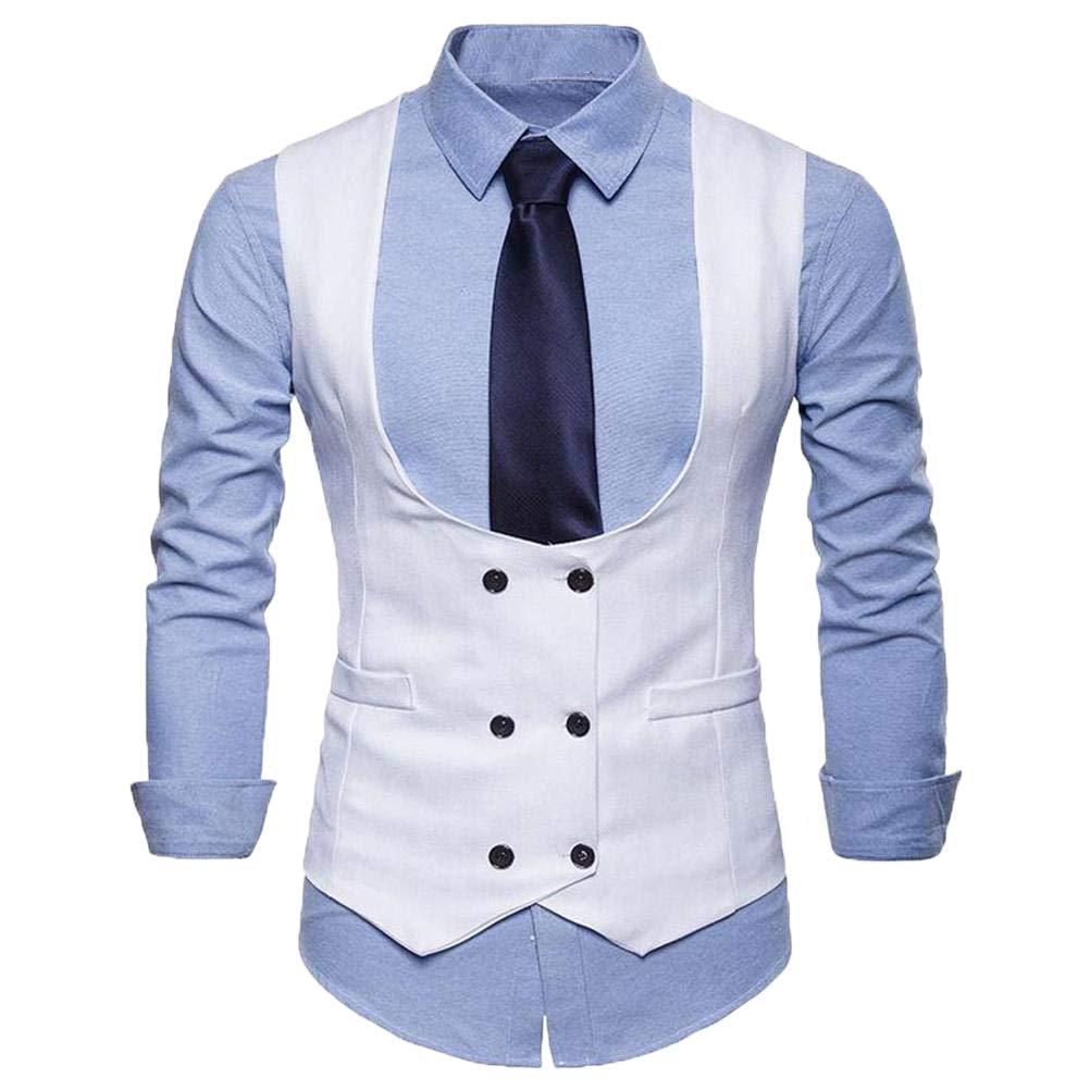 bridalsuits - Traje - para Hombre Blanco Blanco 4X-Large: Amazon ...