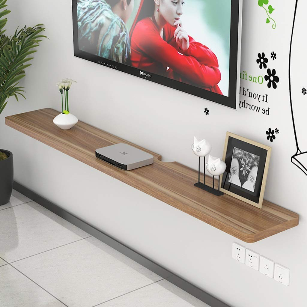 100CM Floating Shelf Wall Shelf Wall-Mounted TV Stand TV Console Multi-Function Display Shelf Set Top Box TV Set Up Gadgets Storage Shelf (Size   100CM)