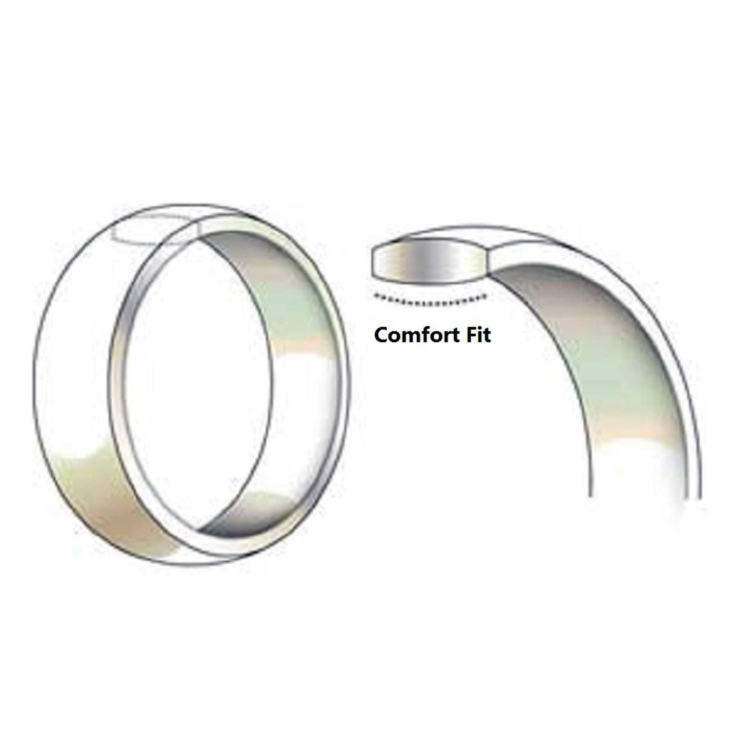 Tungsten Carbide Diamond Mens Wedding Band .20CTW (H-I I2) by AX Jewelry (Image #3)