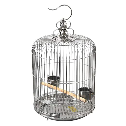 Meetshine Jaula para pájaros de Acero Inoxidable para Loros y ...