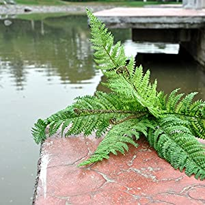 FYYDNZA Large Leaf Grass Leaf Fern Green Trees Home Furnishing Decoration Artificial Flower Wedding Decoration 98