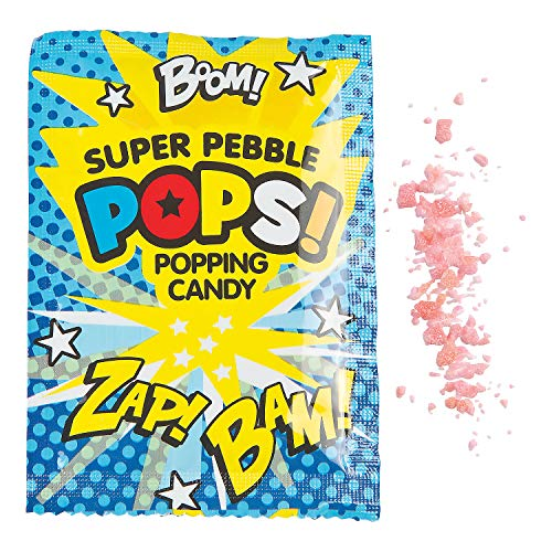 Fun Express - Superhero Popping Candy Fun Packs - Edibles - Hard Candy - Sweet Creams & Hard Candy - 36 Pieces ()