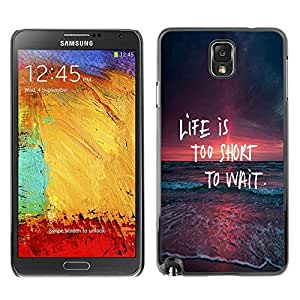 Impact Case Cover with Art Pattern Designs FOR Samsung Note 3 N9000 Life Too Short To Wait Spontaneity Quote Betty shop