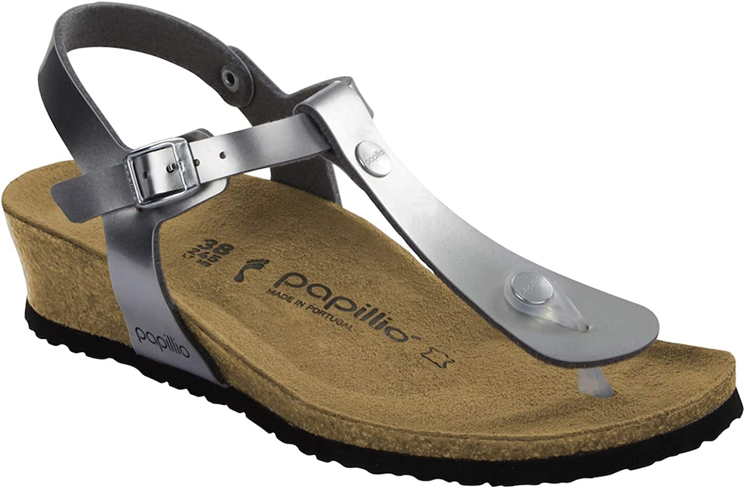 Birkenstock Papillio Women's Ashley Sandal, Light Silver, 42 M EU