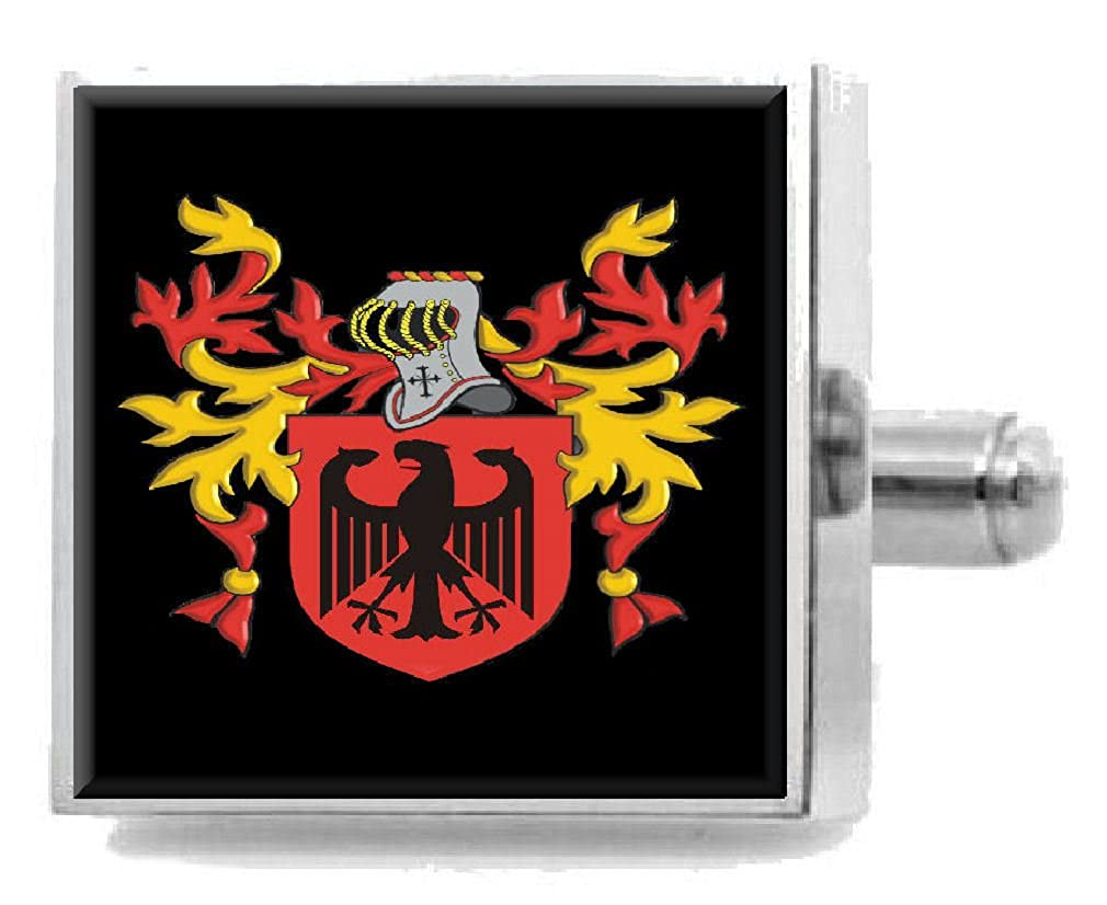 Select Gifts Aspinall England Family Crest Surname Coat Of Arms Cufflinks Personalised Case