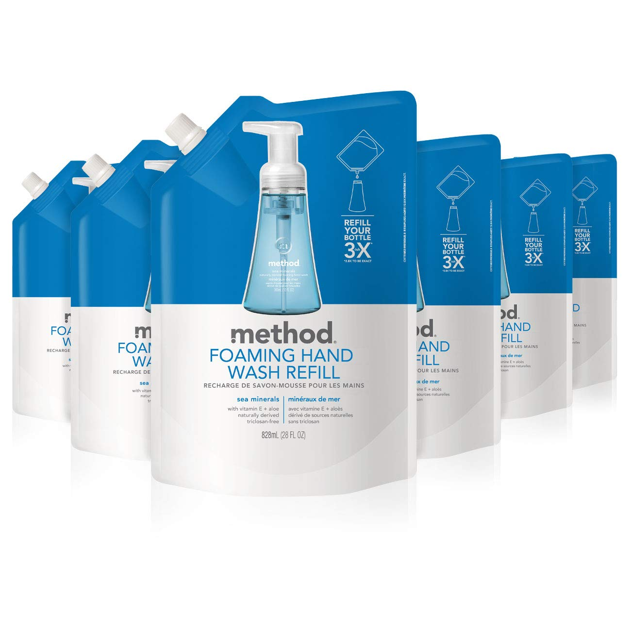 Method Foaming Hand Soap Refill, Sea Minerals, 28 Fl Oz (Pack of 6): Health & Personal Care