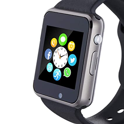 Hocent Smart Watch, Smartwatch with SD Card Camera Pedometer Phone Call Text SNS SMS Sync SIM Card Slot Music Player Alarm Compatible with Android and ...