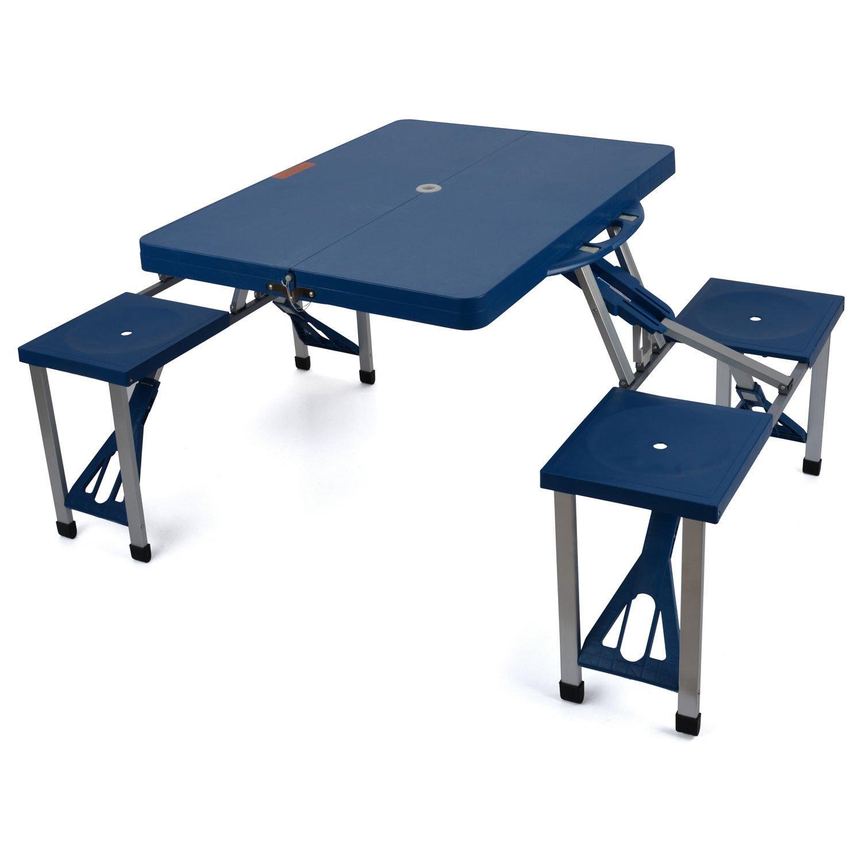 Generic léger ABS Ensemble de Salle à Manger Ining Table Pliante Portable Camping Portabl Table Chaises Campin Table de Pique-Nique Camping Pi léger ABS Couleur aléatoire  -