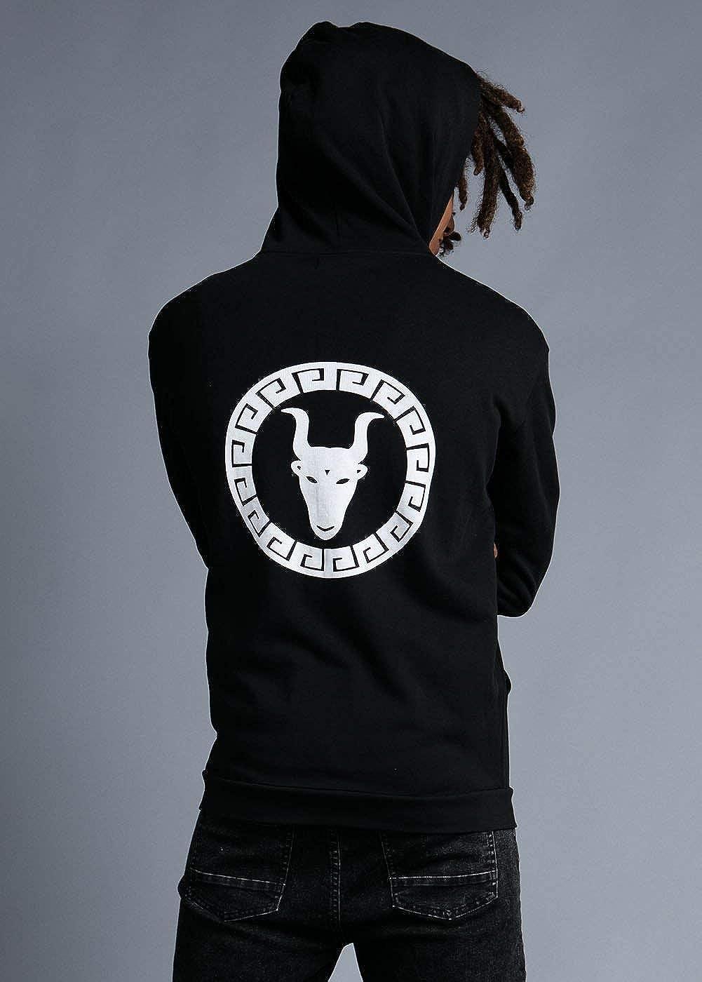 Teenzshop Boys Long Sleeve Toro Graphic Logo Zip-Up Hoodie Adult S /– M Black 9-16 Years