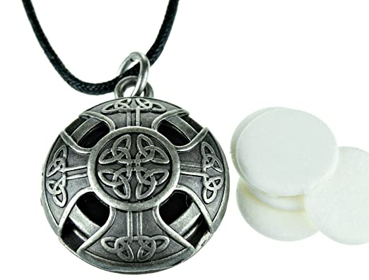 Celtic Cross Essential Oil Necklace