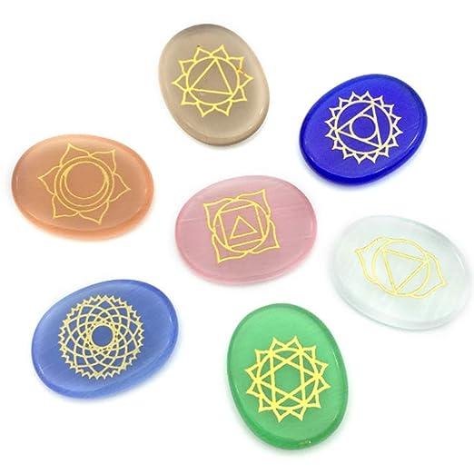ANLING 7Chakra, Cristales Reiki Opal Siete Chakra Yoga ...