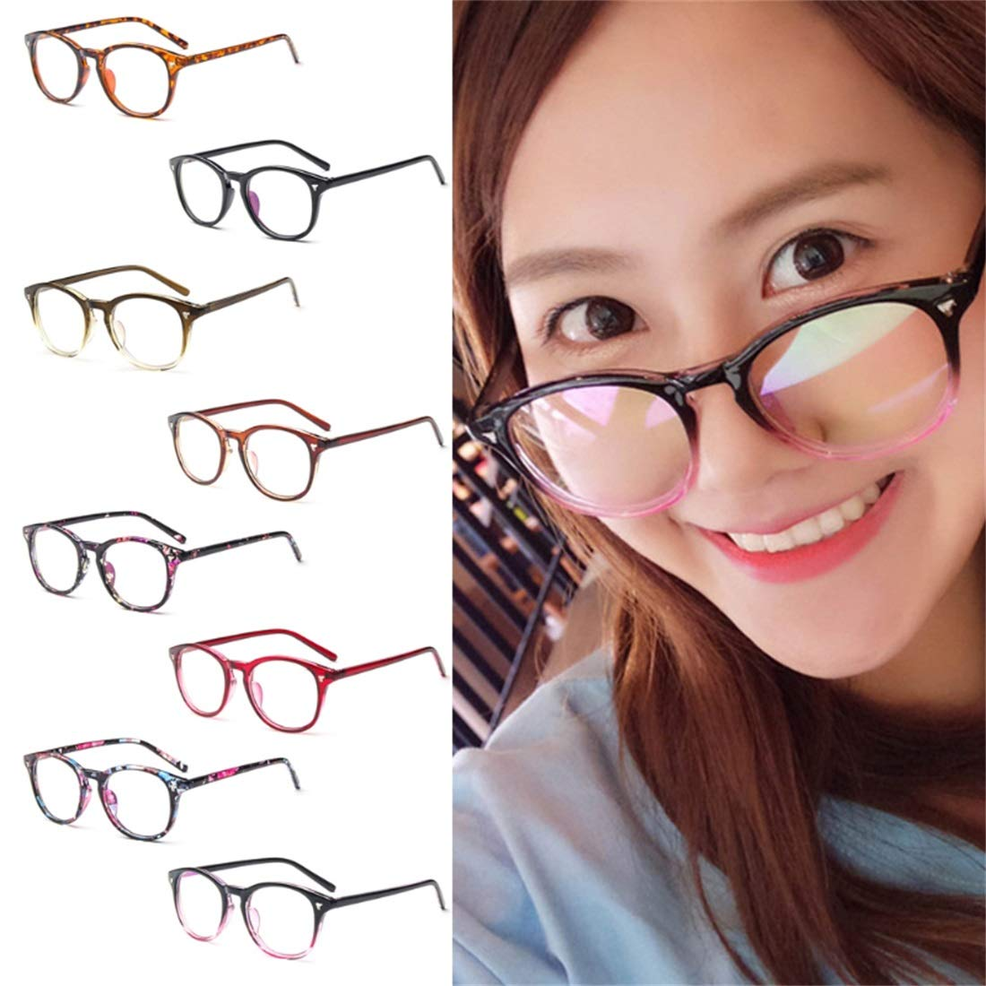 CHICLI Vintage Clear Lens Eyeglasses Frame Retro Men Women Unisex Glasses Optical A17/_40 03