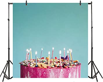 Birthday Celebration Invite Chocolate Wrap Like Image Middle Age Background for Child Baby Shower Photo Vinyl Studio Prop Photobooth Photoshoot 36th Birthday 10x12 FT Photography Backdrop