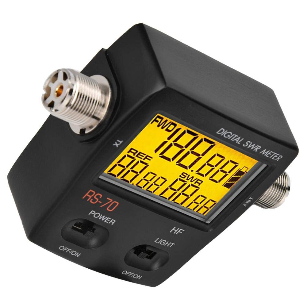 1.6-60 Mhz Standing Wave Meter Bewinner Short Wave Digital SWR Standing Wave Meter,Maximum Measurable Power Range up to 200W,LED Backlight Display,Forward//Reversed//VSWR Ration in One Push Button
