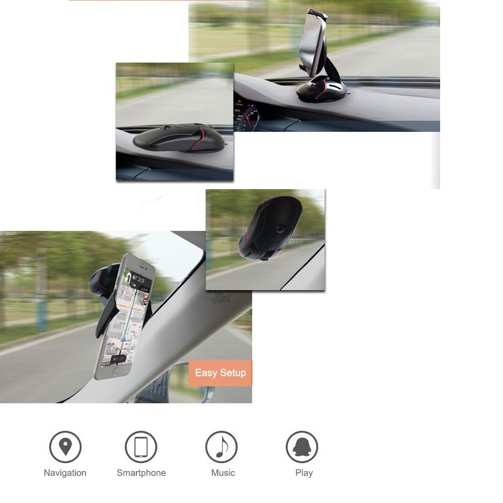 INNERSO Simple Easy One Touch 2 Car Mount Universal Phone Holder Dashboard Car Phone Holder for iPhone X 8//8 Plus 7 7 Plus 6s Plus 6s 6 SE Samsung Galaxy S9 S9 Plus S8 Plus S8 Edge S7 S6 Note 8 Note5