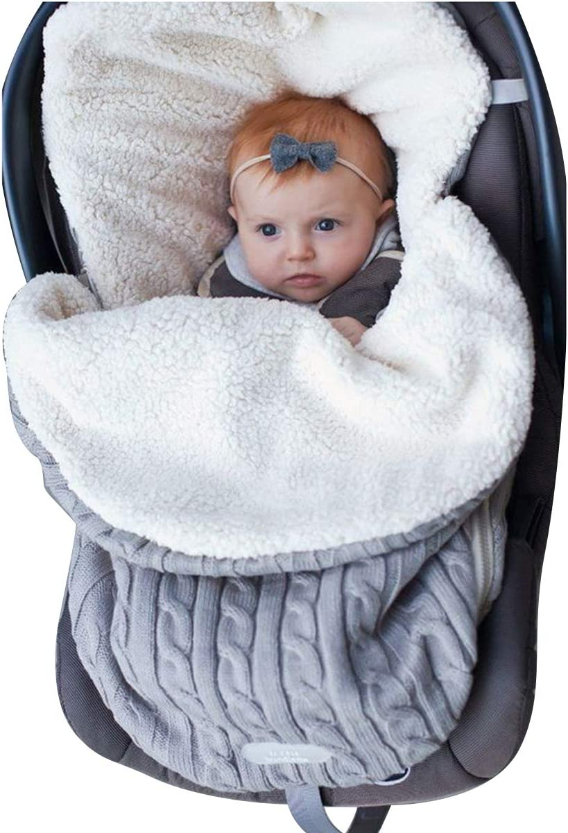 envoltura de cochecito de bebé, manta de bebé, saco de dormir para recién nacido Saco de cochecito para niñas o niños de 0 a 12 meses