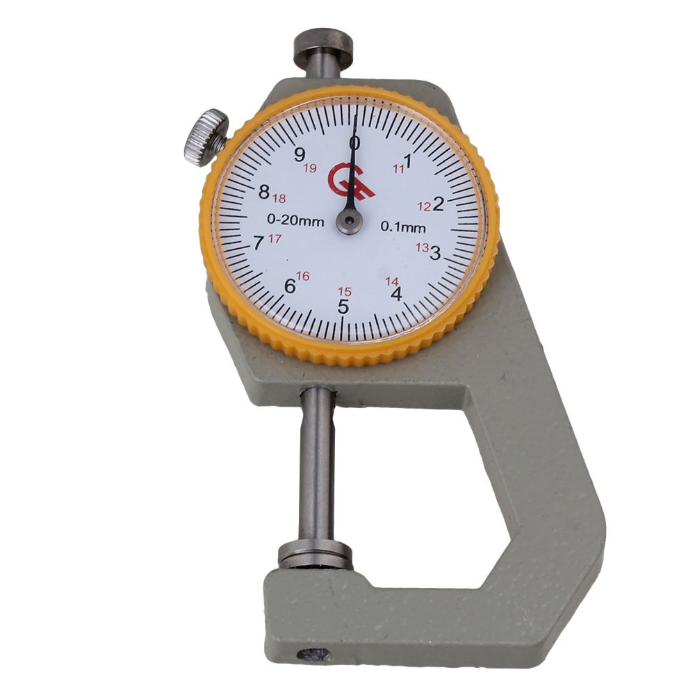 Mxfans 0 to 20mm Round Dial Pocket Thickness Gauge Gage Silver Tone blhlltd