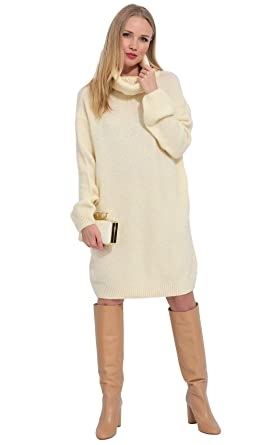 bf468953081 ARTY BLUSH Robe Pull en Laine col roulé Femme  Amazon.fr  Vêtements et  accessoires
