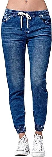 HX fashion 女性のハイウエストジーンズストレートスリムデニムストレッチロングデニムパンツ伸縮性ファッション2019婦人服