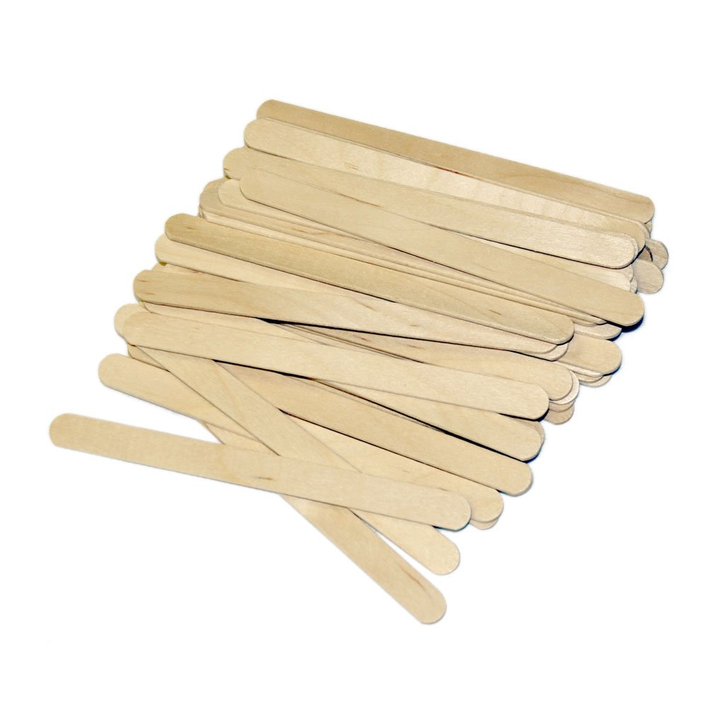 1000 Ct. Medium Wood Waxing Applicator Face Eyebrow Stick Wax Hair Removal 4.5''x3/8''