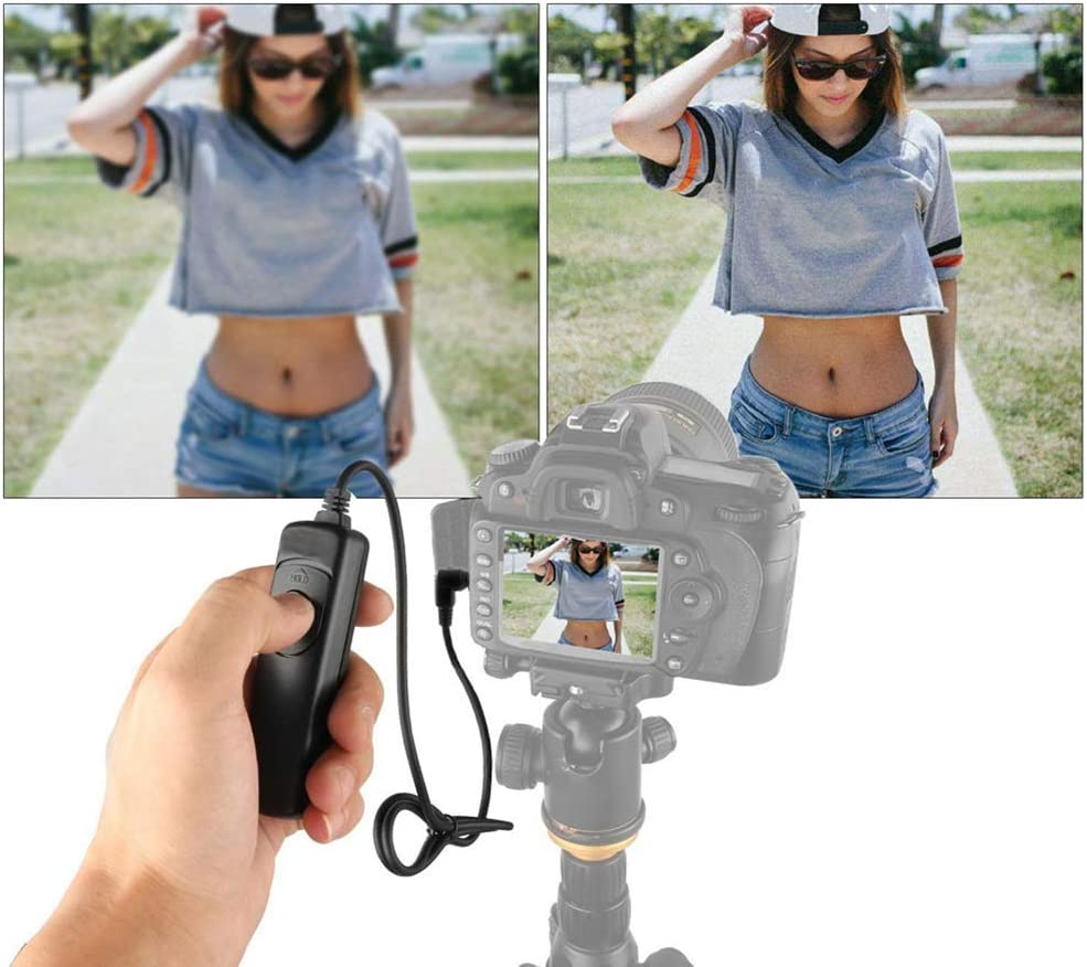 Shutter Switch Remote Shutter Release Cabel with Prevents Vibration for Camera Accessories MC-DC2 USlingbi Camera Remote Shutter Release Cable