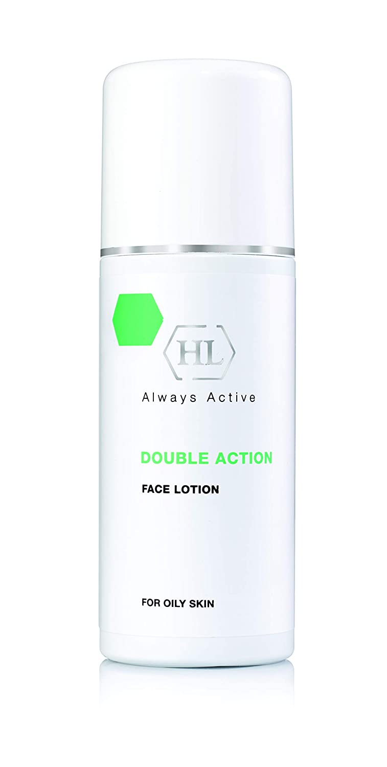 HL Double Action Face Lotion for Oily Skin and Acne, Cooling Facial Cream for Women and Men with Nourishing Essential Oils and Eucalyptus, Dries Pimples, Reduces Greasiness, Removes Redness, 8.5oz