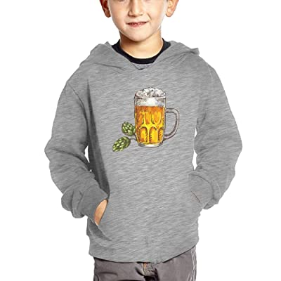 Beer Low Poly Unisex Baby With Pockets Hoodies Autumn Winter Sweatshirt