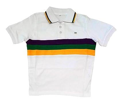 758e28f92cb Amazon.com: Child Small Mardi Gras Rugby White Purple Green Yellow ...