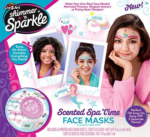 Cra-Z-Art Shimmer & Sparkle Make Your Own Spa Time Face Masks (Make Your Own Face Mask For Kids)