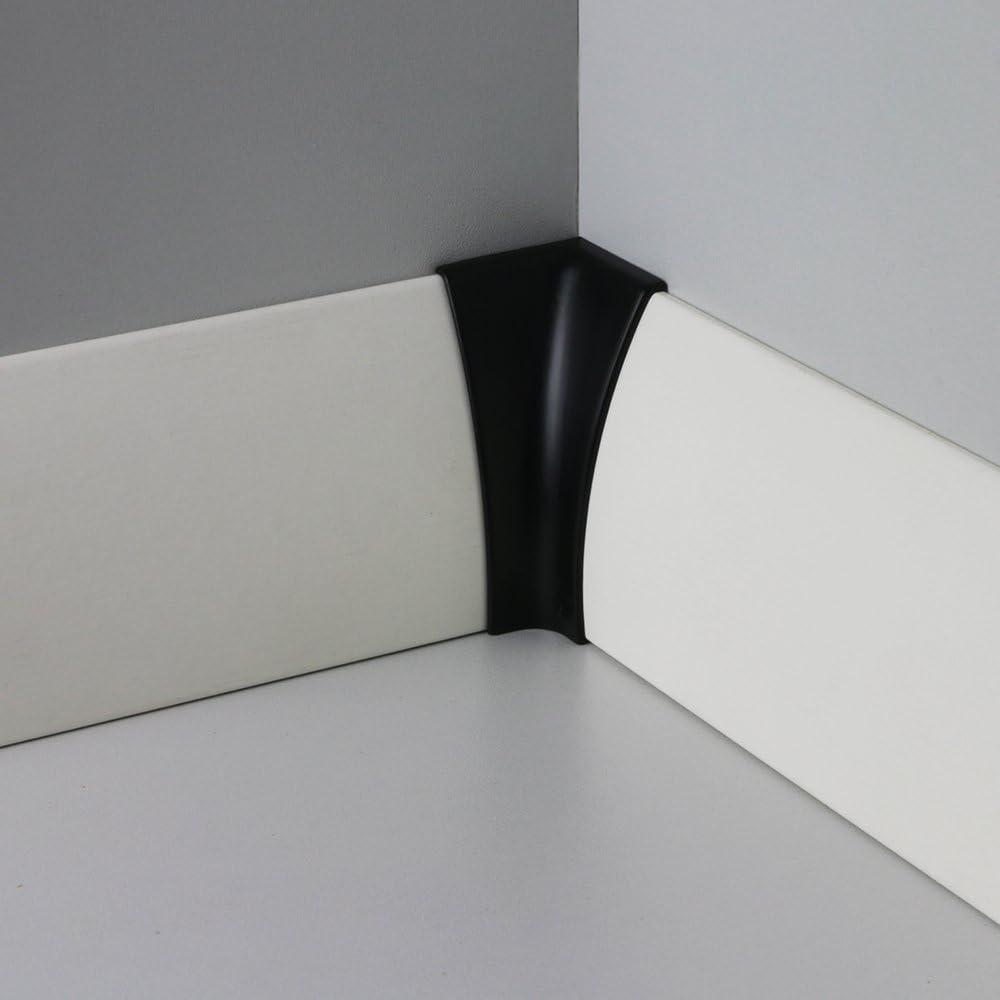 Innenecke Kunststoff f/ür Sockelleiste-Rund in Schwarz