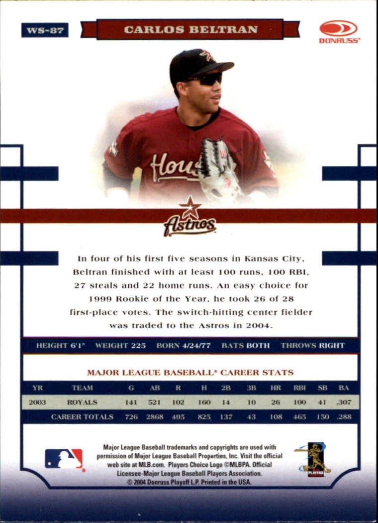 2004 Donruss World Series 87 Carlos Beltran At Amazon S