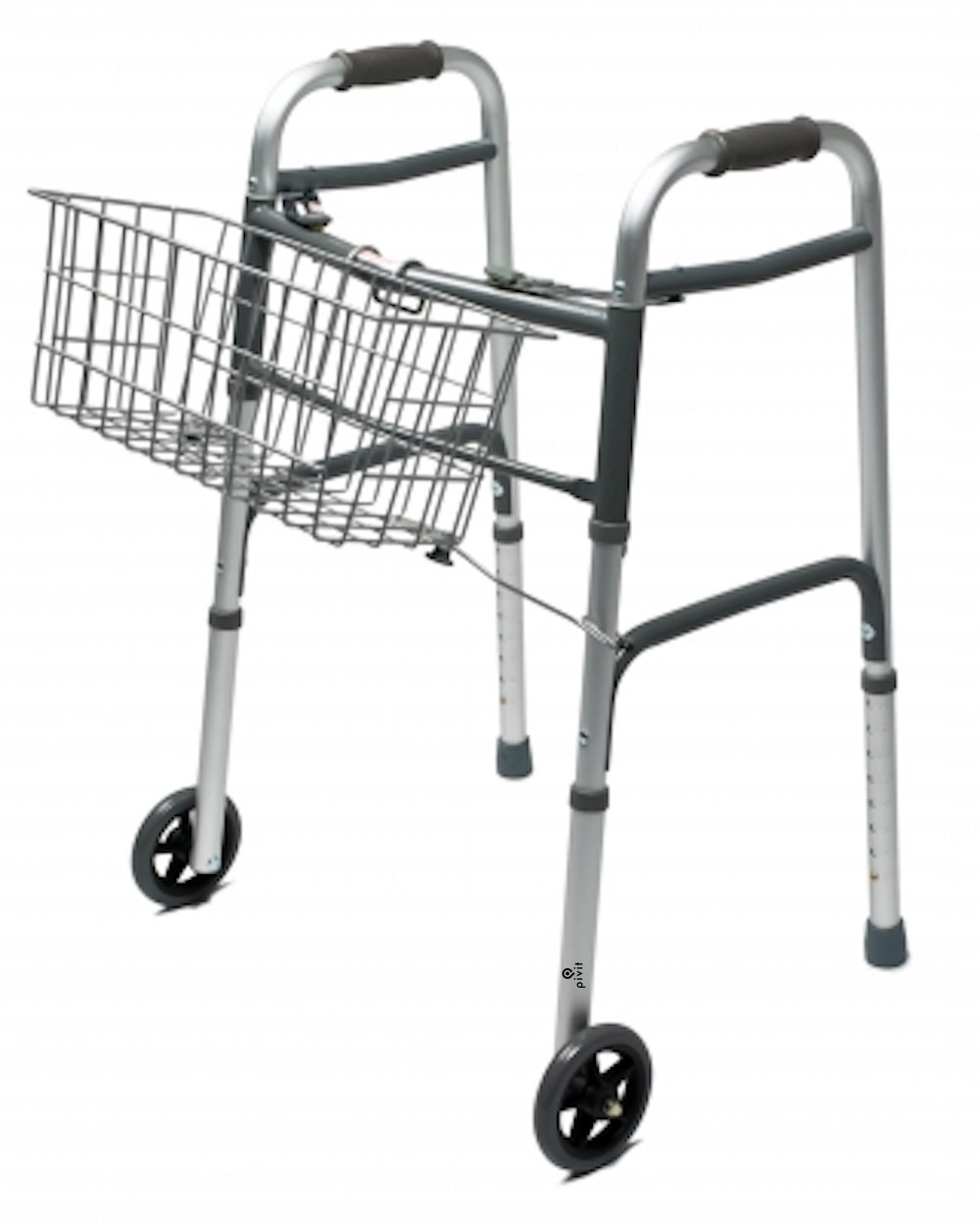 Pivit Snap-On Walker Basket | Keep Your Hands Free So You Can Shop Clean and Carry Personal Belongings | No Tools Needed! Place Inside Or Outside of Your Walker | Fits Any Brand Walker with 1'' Tubing