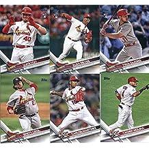 2017 Topps Update Series St. Louis Cardinals Team Set of 9 Cards: Yadier Molina(#US47), Magneuris Sierra(#US101), John Brebbia(#US105), Carlos Martinez(#US164), BIRDS IN THE GARDEN(#US185), Brett Cecil(#US199), Paul DeJong(#US219), Alex Reyes(#US249), Luke Voit(#US281)