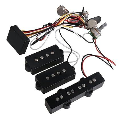 Amazon.com: Yibuy 3 Band Active B Preamp Equalizer 4 ... on emg wiring guide, emg solderless 3-way switch, emg strat wiring diagrams, emg wiring diagrams 2 volume 3-way, emg sa single coil pickups, emg p bass wiring diagram, emg wiring harness diagram, emg wiring diagram 5 way to, emg active bass pickup diagram, emg wiring kit,